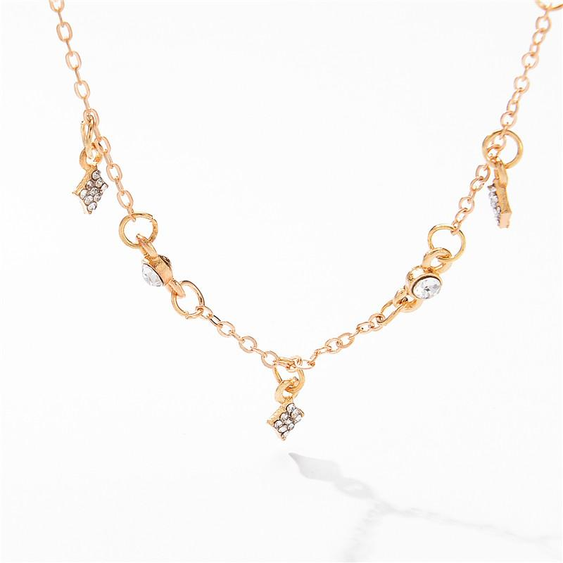 Múltiples capas de bolas de estrella gargantilla collares para las mujeres 3 filas Crystal Rhinestone collares de cadena Collier color oro mujeres encanto de la joyería