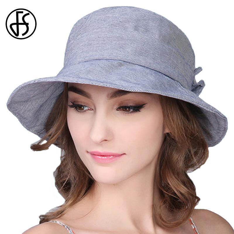 f6987ae3d72a FS Primavera y verano Nuevas mujeres Sombrero para el sol Viajes plegables  Ocio UV Protección de ala corta Gorra 4 colores