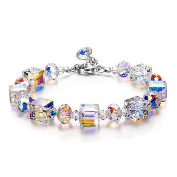 723a4751a58 Compre S925 Plata Aurora Erimish Pulseras Cristal Checo Cubo De Azúcar  Pulseras Nueva Moda De Alta Calidad Pulsera Coloreada A  6.63 Del  Xiangnanjewelry ...