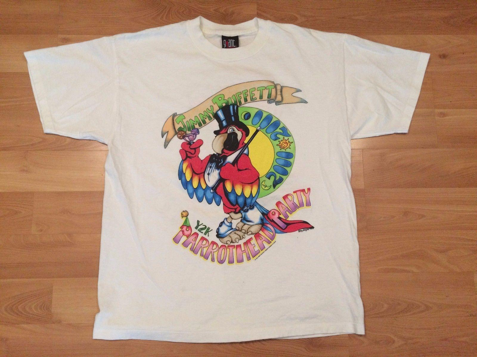 1999 Jimmy Buffett Y2k Parrothead Party T Shirt Mens Xl New Years 2000 La  Cali