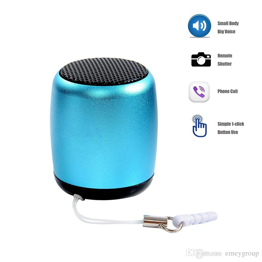 BM3 Super Mini Wireless Bluetooth Speaker Pocket Size Portable Bass Aluminum Speaker Selfie Remote Shuttle Button Music Play