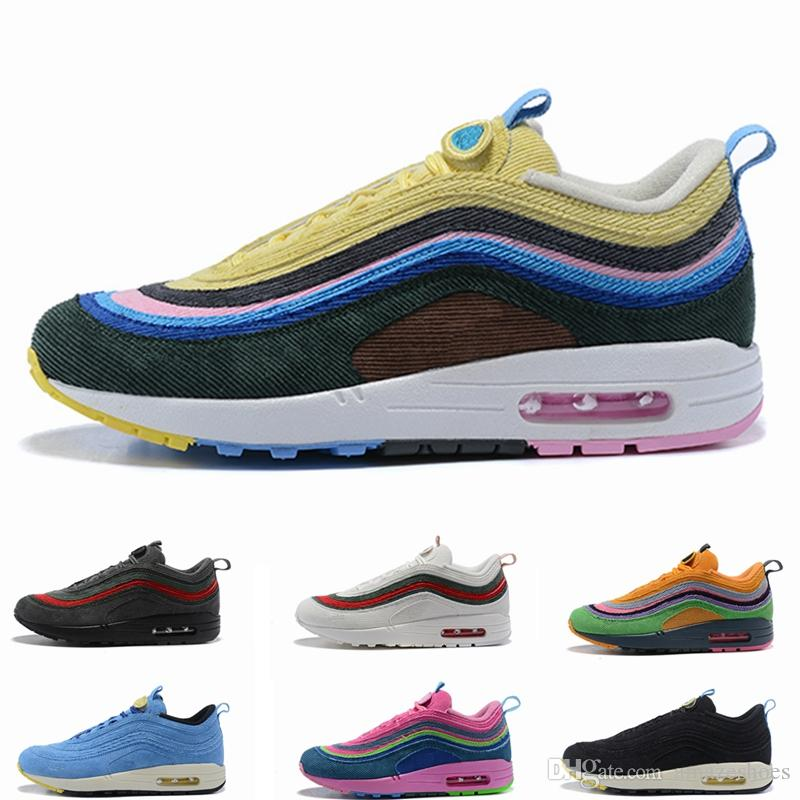 37b6387f58fa 2019 2019 New Sean Wotherspoon X 1 97 VF SW Hybrid Running Shoes Mens Women  Designer Trainers Men Women Sneakers 5.5 12 From Amazeshoes