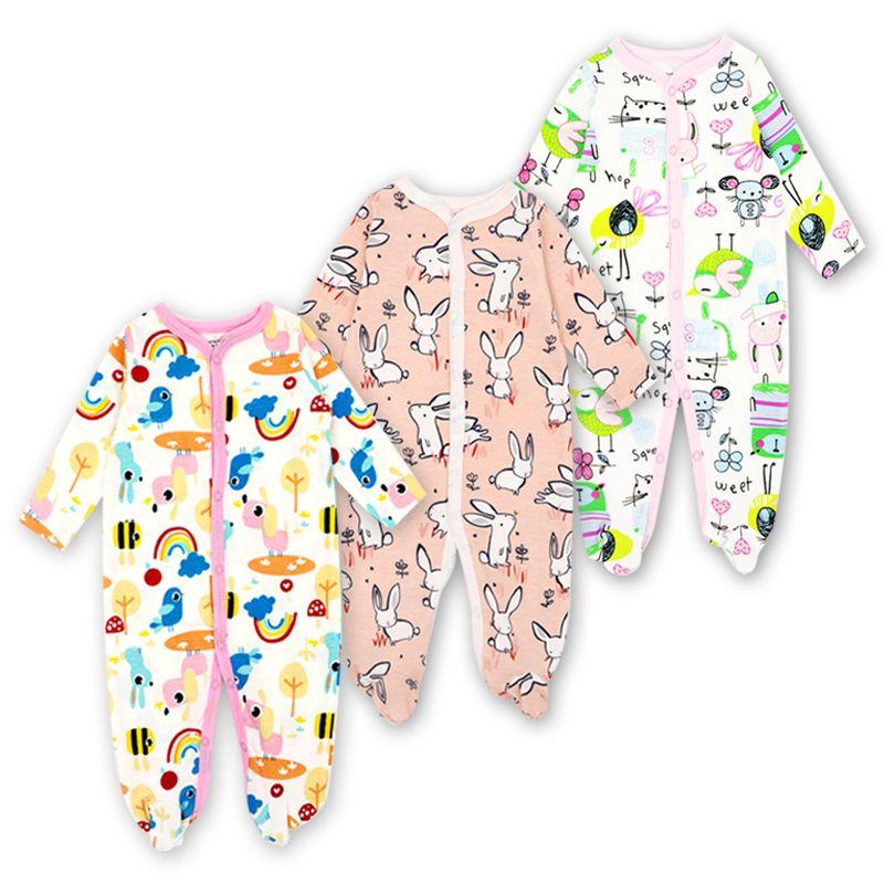 cfee3fcfd Compre 3 Pacote Bebê Recém Nascido Meninos Meninas Roupas Carter Bebê  Pijama Manga Comprida Inverno Macacão Romper Set De Jasmineer