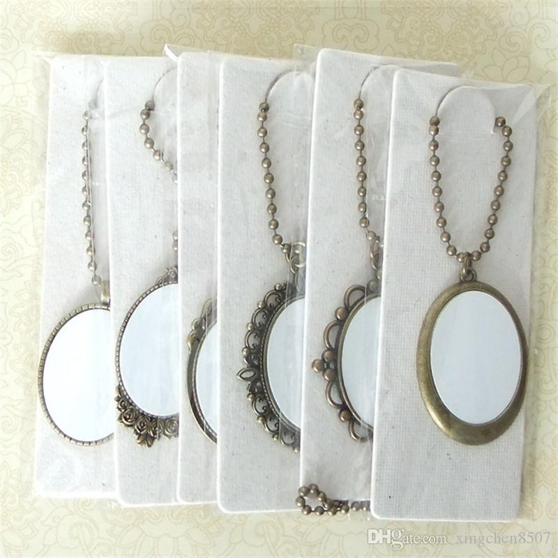 blank necklaces pendants for sublimation women men necklace pendant jewelry for thermal transfer printing diy Supplies small wholesales
