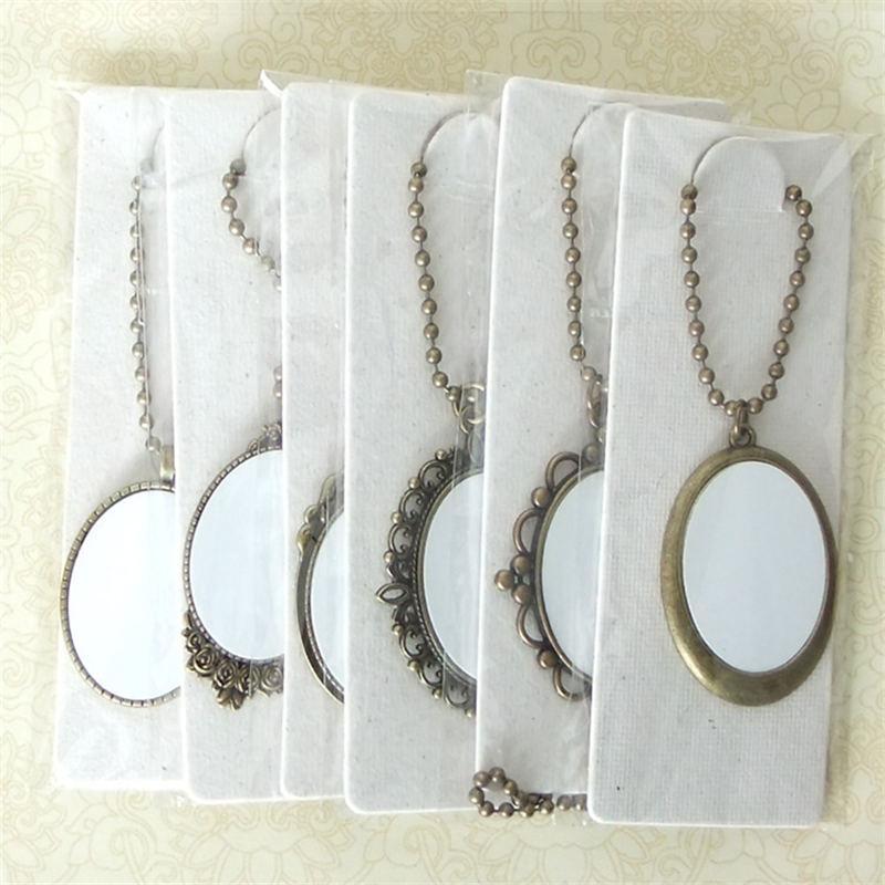 Collares en blanco colgantes para sublimación mujeres hombres collar colgante joyas para impresión por transferencia térmica suministros de bricolaje pequeñas ventas al por mayor