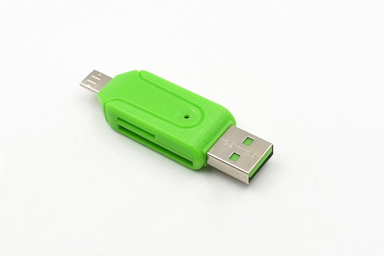 2 1 카드 리더 SD 마이크로 SD TF 슬롯 OTG 어댑터 마이크로 USB 2.0 안드로이드 휴대 전화 태블릿 컴퓨터