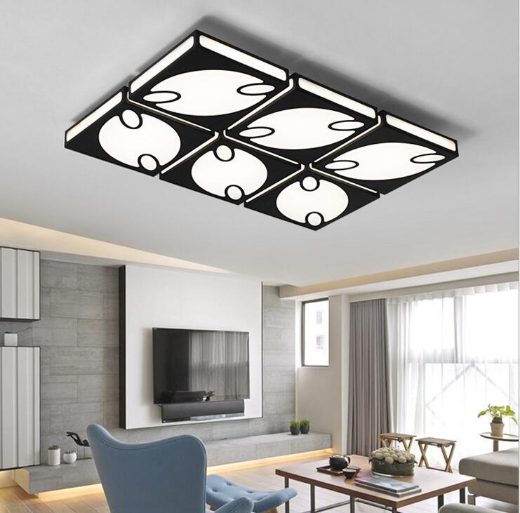 LED rechteckige hause wohnzimmer beleuchtung warm kreative schlafzimmer  lampe moderne minimalistische halle deckenleuchte studie lampe led  beleuchtung
