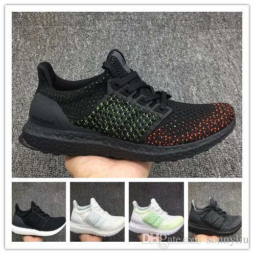 purchase cheap 9cec2 db34e Compre Hot Ultra Boost 4.0 Running Shoes Hombres Mujeres Ultraboost  Primeknit Athletic Sports Zapatillas De Deporte De Tejer Tejer Zapatos De  Senderismo Al ...