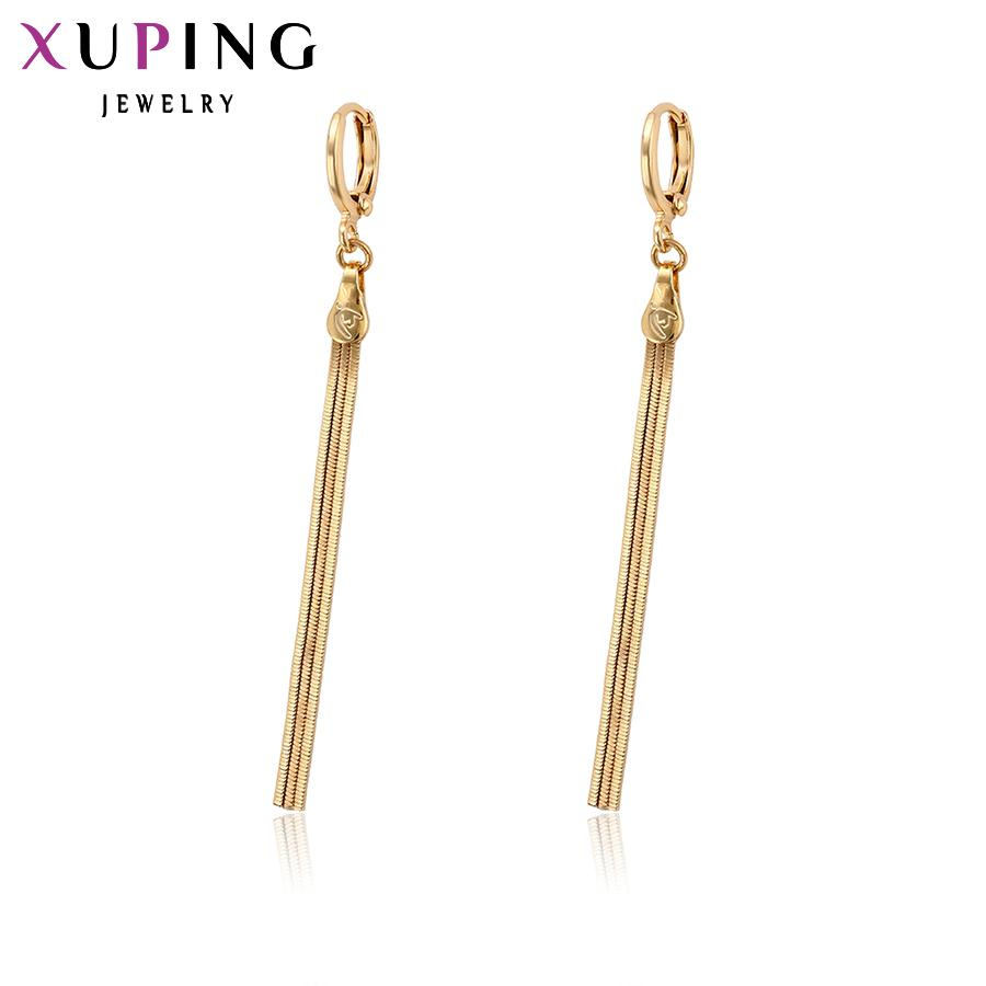 64bf64b91 11.11 2018 Xuping Simple And Stylish Long Earrings with Environmental  Copper for Women Girls Mother's Day Jewelry Gift 96985 Hoop Earrings  Earring Jewelry ...