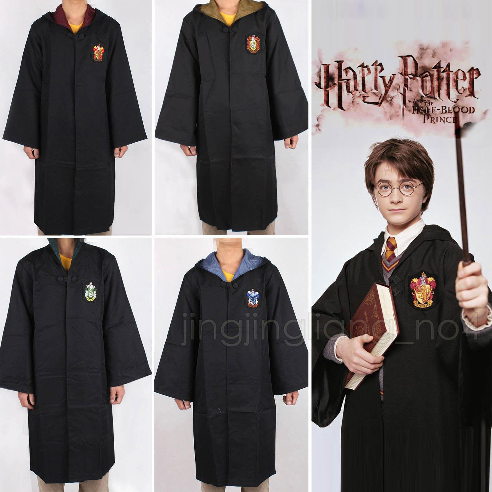 Adult Kids Potter Gryffindor Cloak Robe Women Men Hufflepuff Ravenclaw Slytherin Clothing For Harries Halloween Costume Cosplay DDA600
