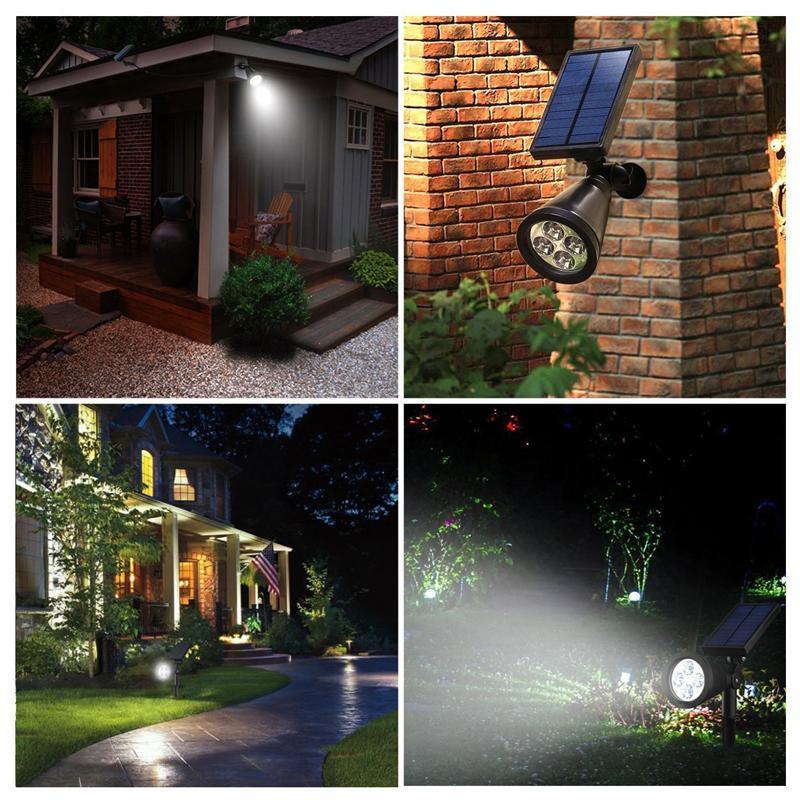 Zita Lighting Solar Light LED Outdoor 4 LED Solar Power Indoor Spotlight Landscape Lawn Lamp Garden Spot Lights IP65 Pathway Lamp