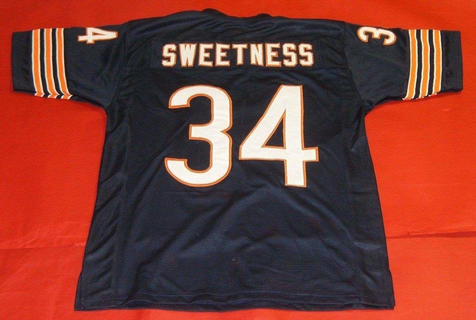 size 40 f65d5 32946 Cheap retro #34 WALTER PAYTON CUSTOM MITCHELL & NESS Jersey SWEETNESS bule  Mens Stitching Top S-5XL,6XL Football Jerseys Running