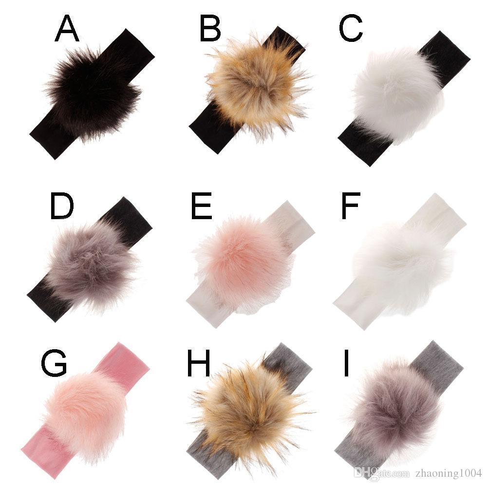 2019 New Designer Baby Headpieces Kids Accessories Girls Headband With  Imitation Raccoon Fur Ball Children Hair Band Wedding Fascinator Hats Gift  From ... 6b401bd6181