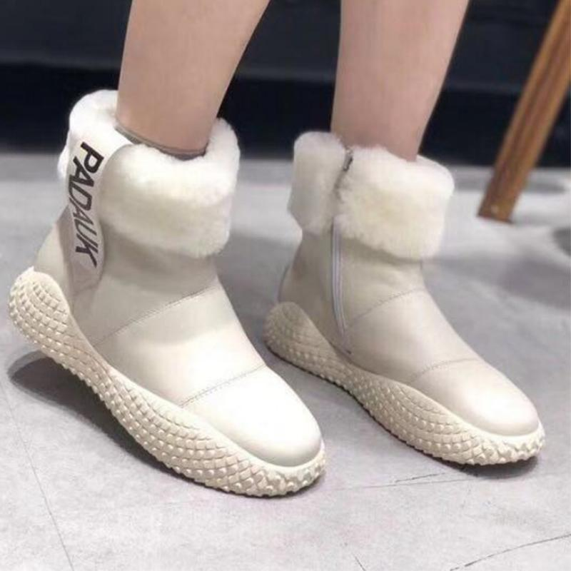 33c627394b Compre Botas De Neve Mulher 2018 Inverno Venda Quente Quente Sapatos  Antiderrapantes Moda Selvagem Tendência Mulheres Botas Zíper Casual Manter  Mulheres ...