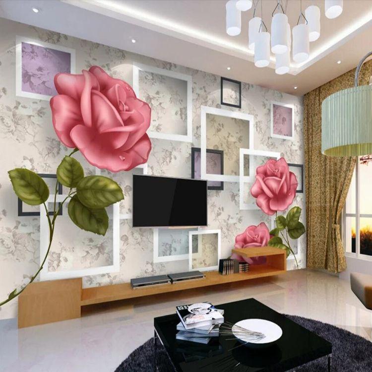 Großhandel Chinesische 3D Wandbild TV Hintergrund Wand Moderne ...