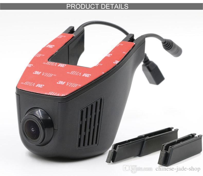 oculto Full HD 1080 P WIFI Coche DVR Dash Cam Visión Nocturna Cámara Del Coche Visión Nocturna Decoración 170 Grados