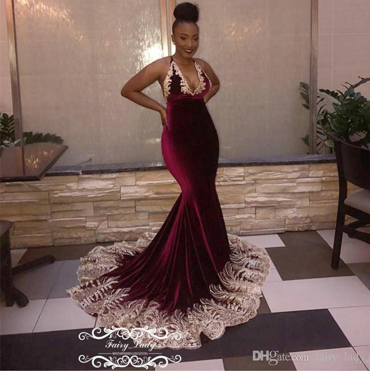 1956239d23b Chic 3D Floral Appliques Burgundy Prom Dresses 2018 Backless Long Deep V  Neck Plus Size Women Evening Dress Pageant Gown Vestido De Festa Long  Elegant ...