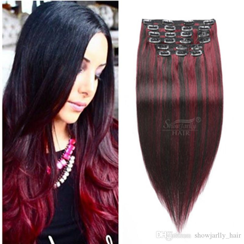 Malaysian Low Price P1b99j Color Cheap Natural Clip In Hair