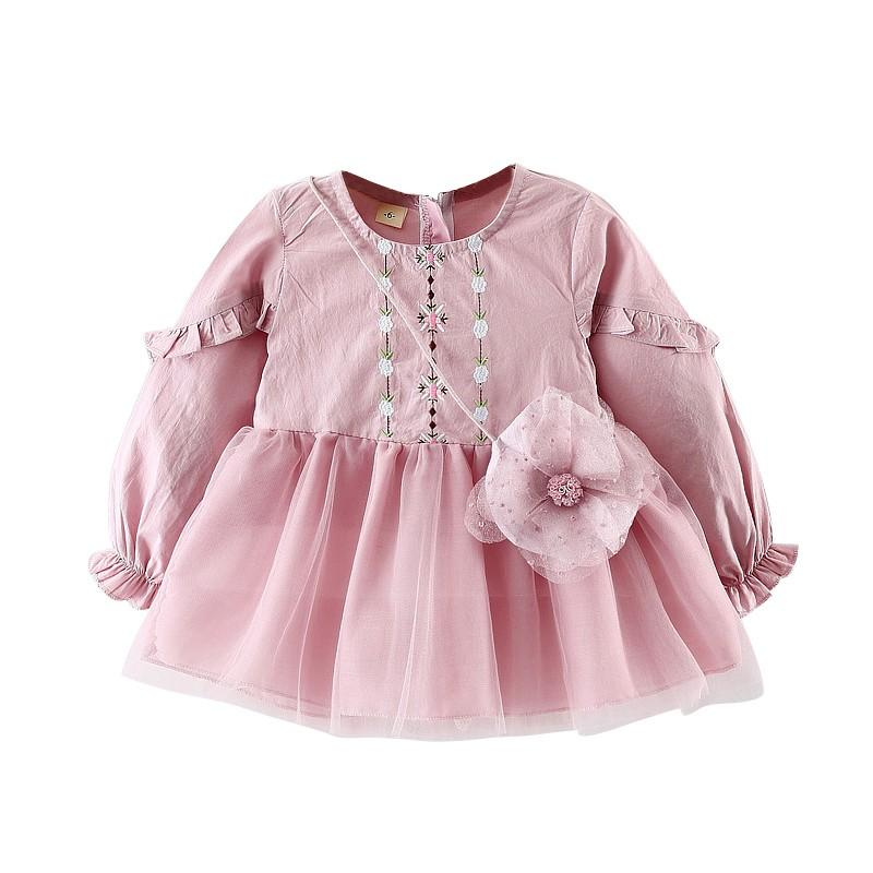 91307bd74 Compre Ropa De Bebé Flores Vestidos De Niñas Otoño Ropa De Niños Flores  Vestidos De Niños Para Niñas Princesa De Primavera A $41.36 Del Cover3129 |  DHgate.