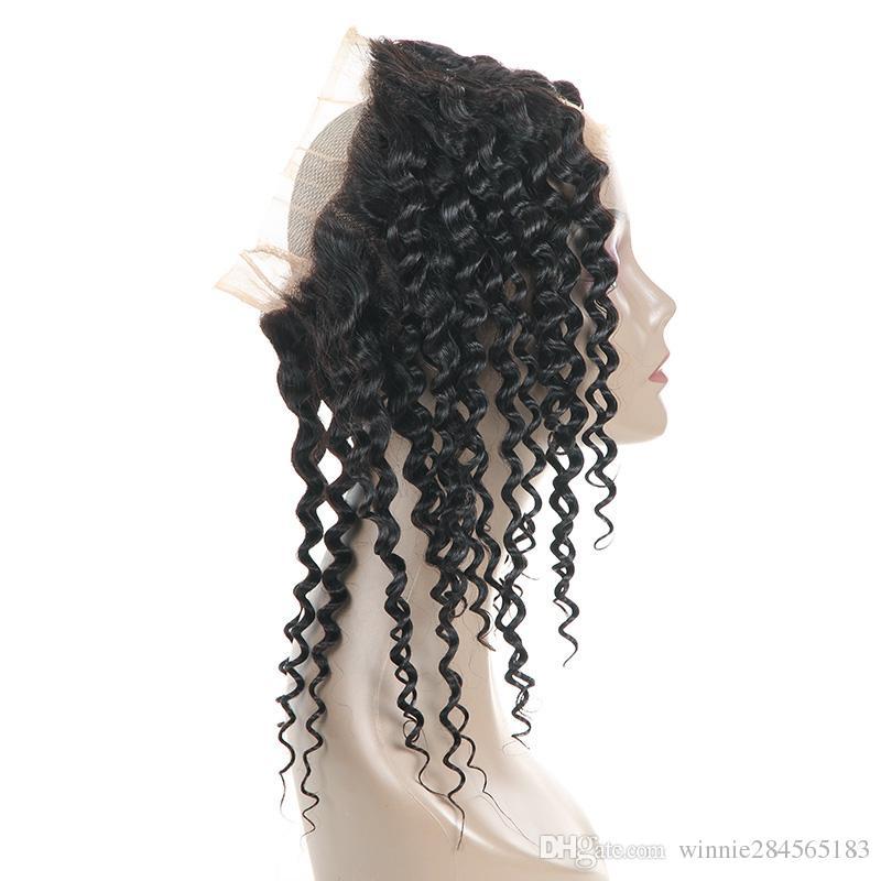 Malaysian Virgin Hair 360 Degree Lace Frontal