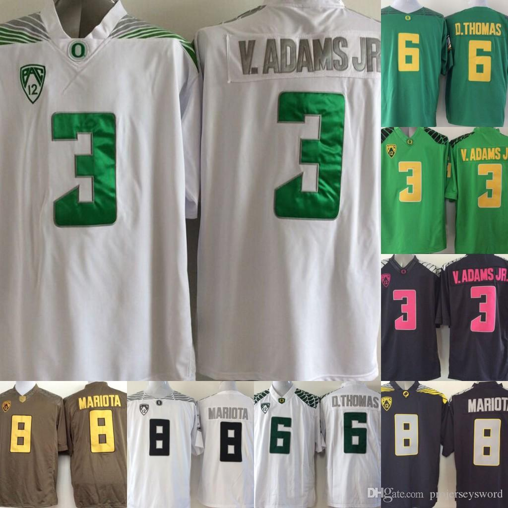 29b32cd74 Mens Oregon Ducks College Jersey 3 Vernon Adam Jr. 6 De Anthony D.Thomas 8  Marcus Mariota College Football Jerseys Green Yellow Black UK 2019 From ...
