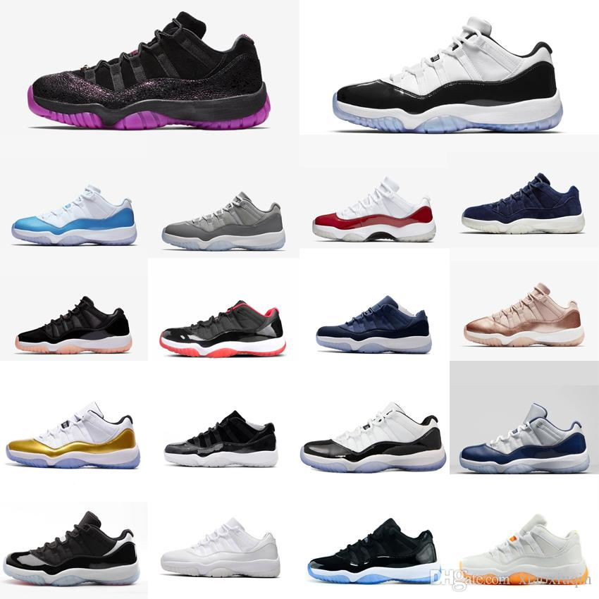 a02e1ac6f71ff 2019 Retro Women 11s Low Basketball Shoes For Sale High Quality J11 Barons  Metallic Gold Boys Girls Youth Kids Jumpman 11 XI Sneakers With Box From ...