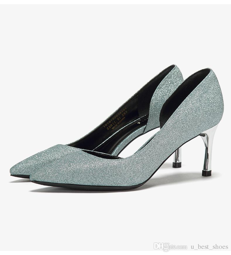 Nude shoes,Ossein shoes.High cup heel,pink,silver,blue.Nude shoes make your legs look miles long. can all-match.