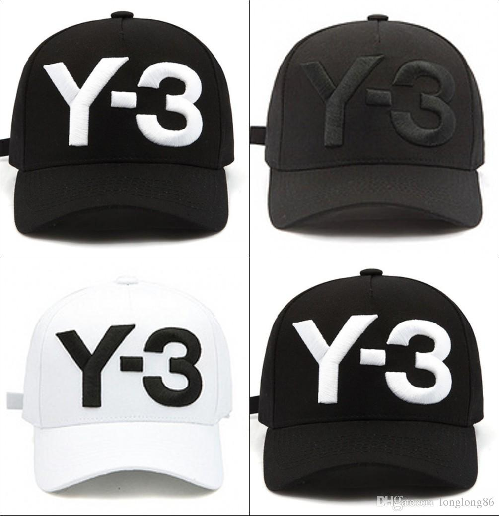 1218e5a1dacd1 2018 New Y 3 Dad Hat Big Bold Embroidered Logo Baseball Caps Adjustable  Strapback Hats Y3 Bone Snapback Sports Casquette Visor Gorras Cap Men Hats  Zephyr ...