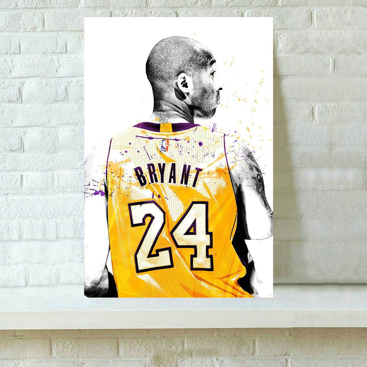 2018 Hd Printed Kobe Bryant Oil Painting Wall Art Decor For Living ...