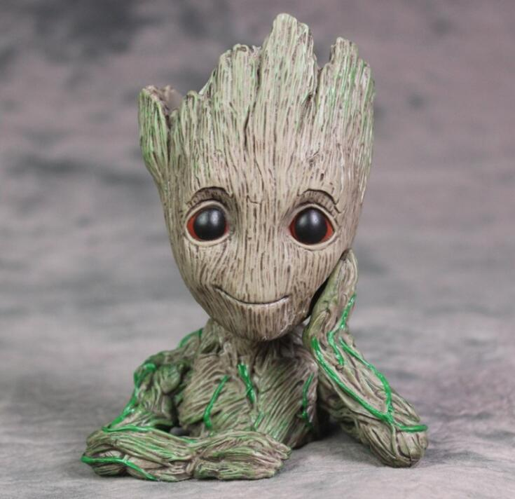 2019 Guardians Of The Galaxy 15cm Baby Groot Figure Flowerpot Toy