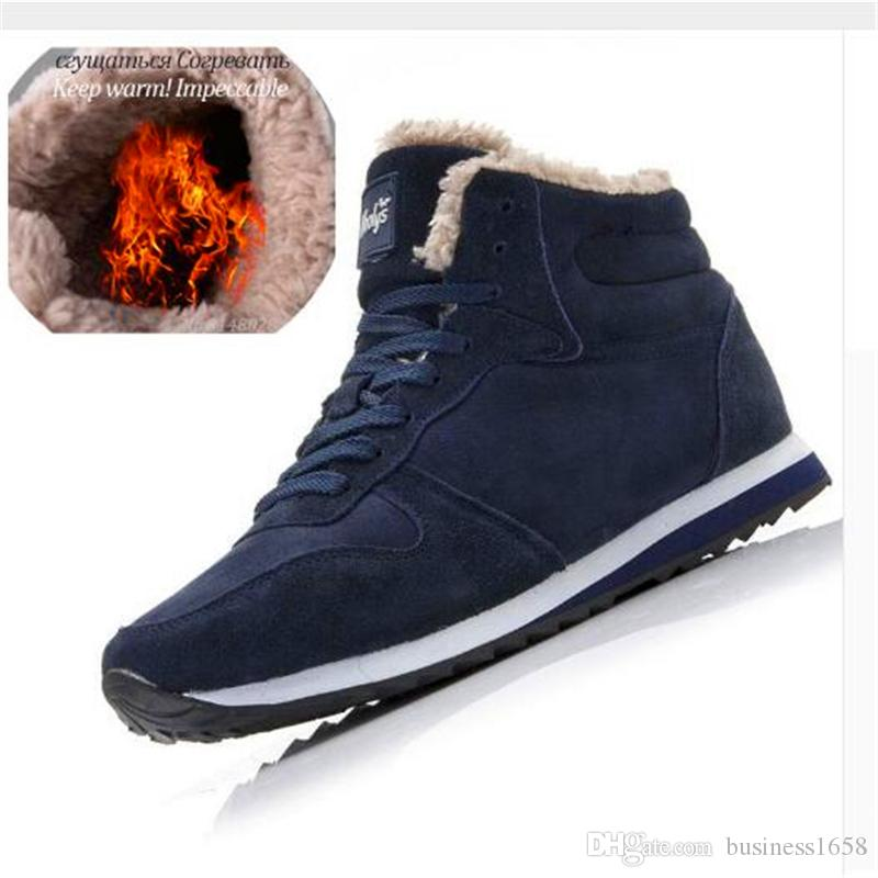 Imported plush inside Men Winter Boots Warm Shoes For Men Boots Snow Ankle Male Shoes Keep Warm Man Winter Shoes Plus Winter Sneakers