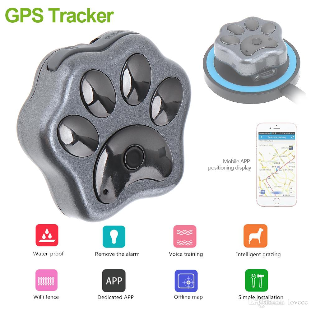 Pets Locator Mini Waterproof GPS Tracker Dog Cat Location Support GSM GPRS Phone Real Time Tracking Alarm with Wireless Charger SAM_30E