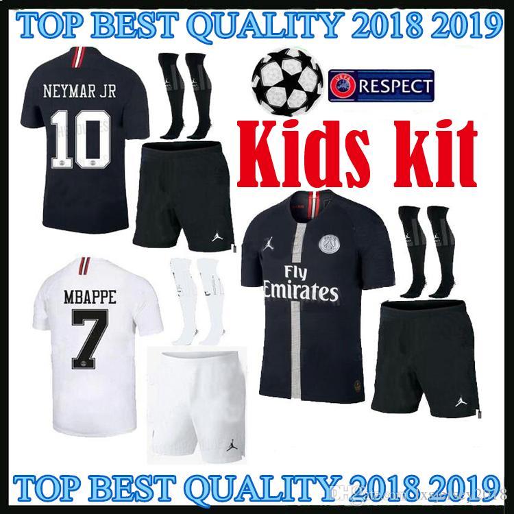 2018 2019 PSG Kids Soccer Jerseys Champions League MBAPPE DI MARIA ... 8f5387048