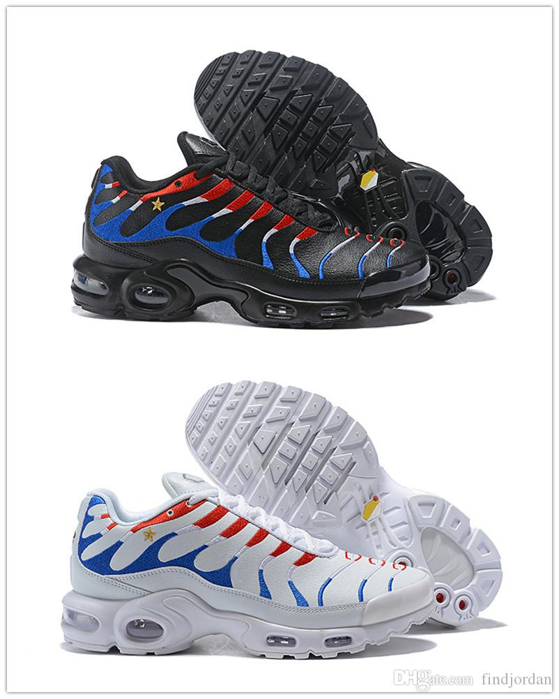 ec59acd9bcf59 2019 Plus TN French Flag White Black Men Women Running Shoes Kylian Mbappé  World Cup Champion Sports Trainers Designer Sneakers Size 5.5 12 From  Findjordan