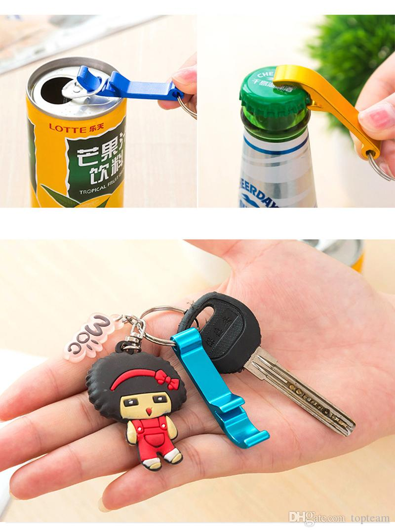 Key Chain Metal Aluminum Alloy Keychain Ring Beer Can Bottle Opener Openers Tool Gear Beverage Custom Personalized Pay Extra