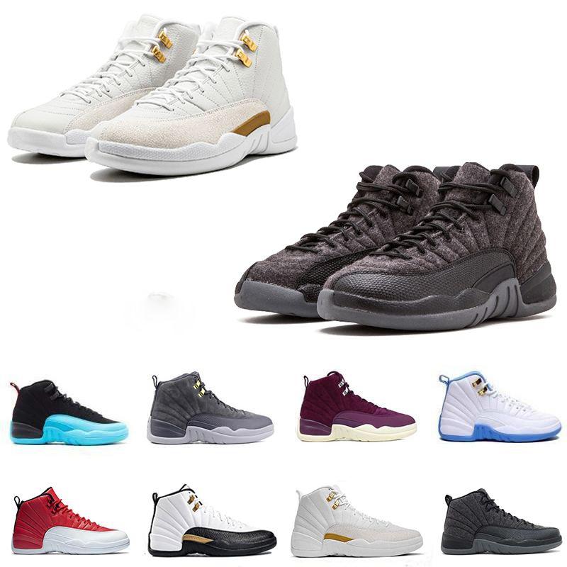 d73c08597559 High Quality 12 12s OVO White Gym Red Dark Grey Basketball Shoes Men ...