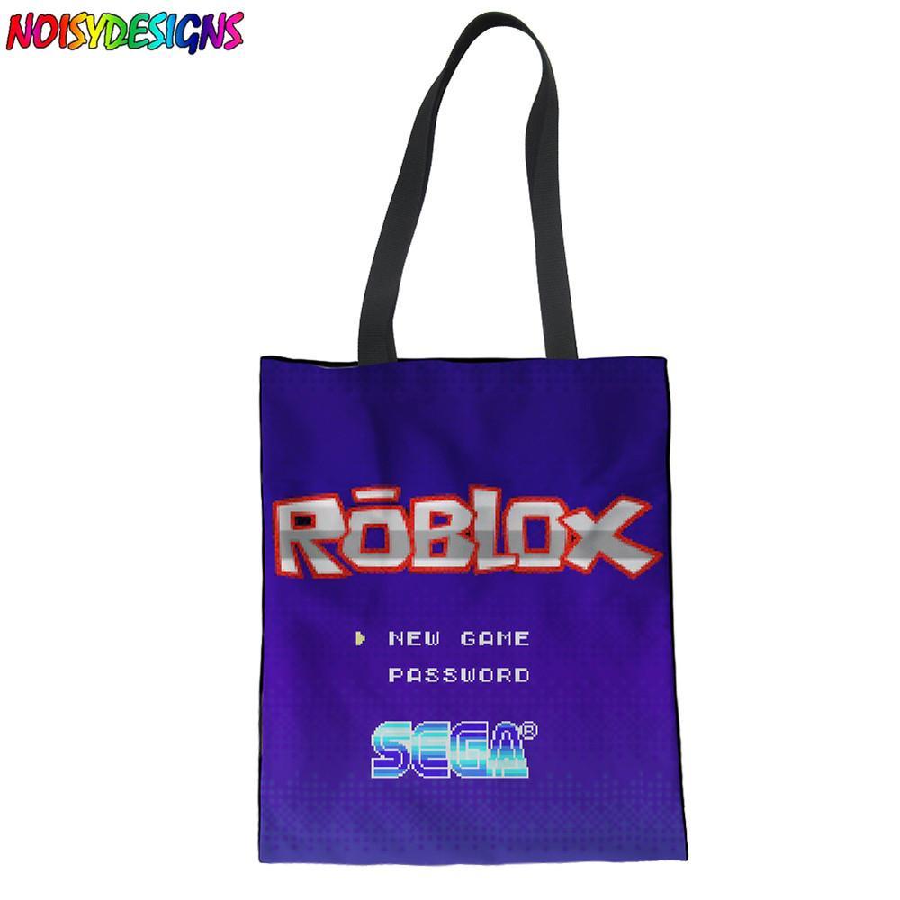 Noisydesigns Tote Women Handbags 3D Roblox Games Pattern Print Reusable  Shopping Shoulder Bag Girls Top-handle Bags Female Bag