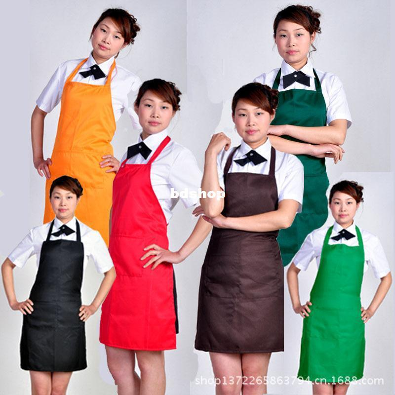 Free shipping New items kitchen accessories Korean fashion floral cotton lattice bow apron kitchen aprons