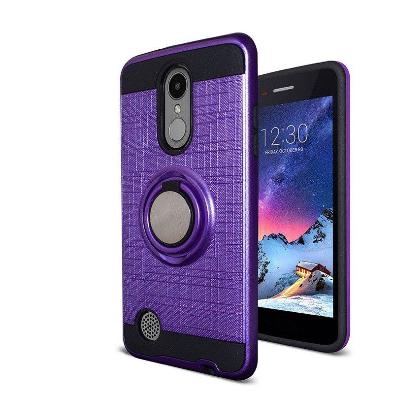 For LG K20 Plus K20V Harmony Grace V5 LV5 Fortune Phoenix 3 Aristo LV3 V3 Ring Car Phone Holder Kickstand Case Magnetic Cover