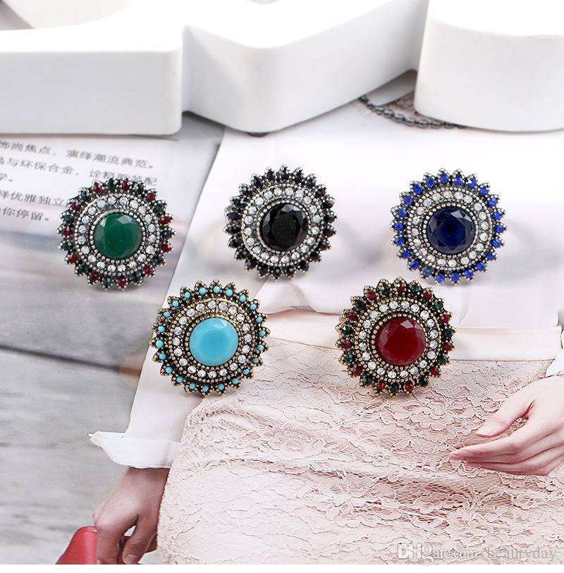 Kadın Parmak Yüzük Mikro Kakma Tam Mavi Zirkon Ayarlanabilir yüzük Düğün Balo Düğün Gelin Takı Aksesuarları