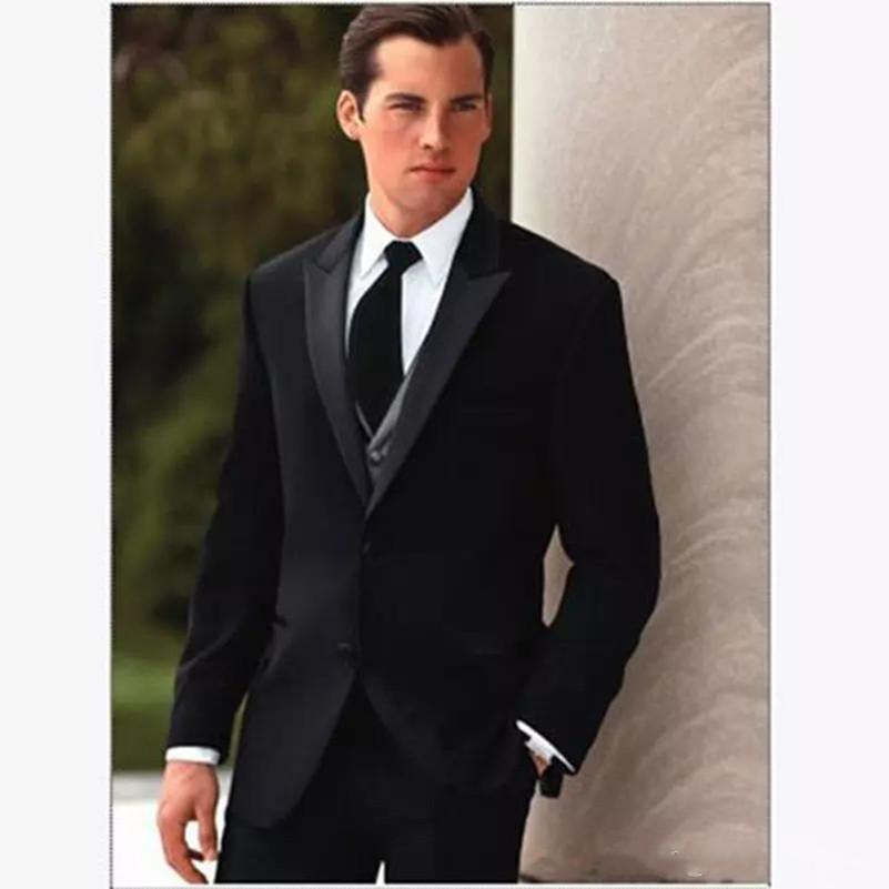 Anzüge Anzüge & Blazer jacke + Pants Hohe Qualität Dunkelgrün Herren Anzüge Bräutigam Smoking Groomsmen Hochzeit Abendessen Best Man Anzüge