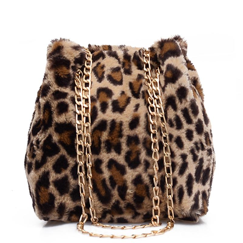 eca5c8a6b9 Faux Fur Leopard Bucket Bags For Women 2018 New Fashion Small Winter  Shoulder Bags Ladies Crossbody Female Warm Handbag Purses Designer Handbags  From ...