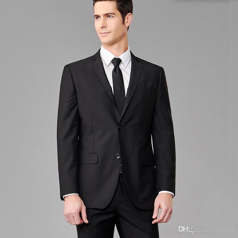 Formal Black Men Suits For Business Smart Casual Groom Tuxedos Slim