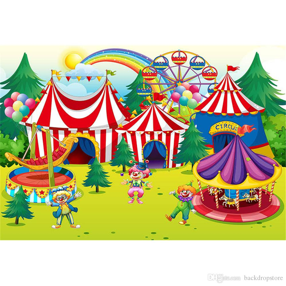 2019 children birthday party carnival backdrop photography printed