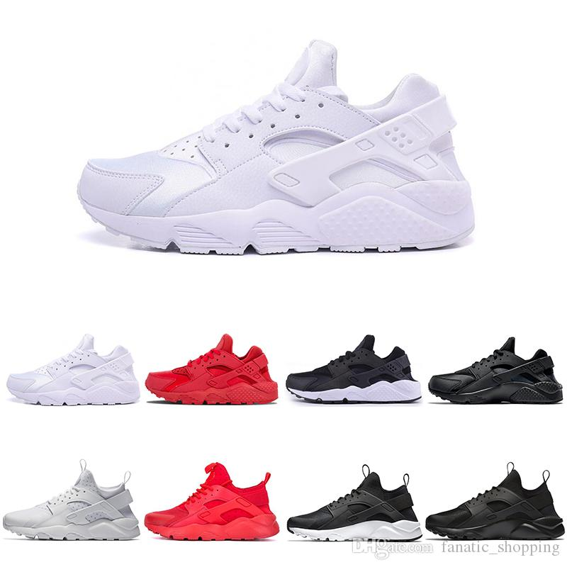 7bd7eaf59c3ef 2018 New Huarache I IV Running Shoes For Men Women White Black Red Sneakers  Triple Trainers Huraches Sports Shoes Air Huarache I IV Running Shoes Sports  ...