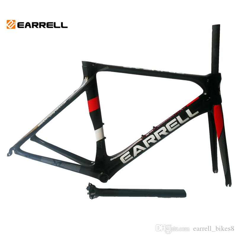 2018 Carbon Road Bike Frames Bike Black Frame Bicycles Carbon Road ...