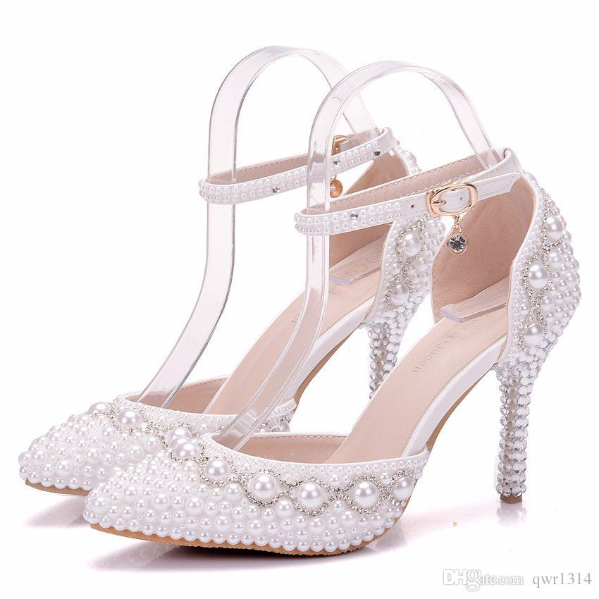Perlas Fashionl Sexy Punta New Zapatos De Estrecha Mujer Compre Para jq3R5L4A