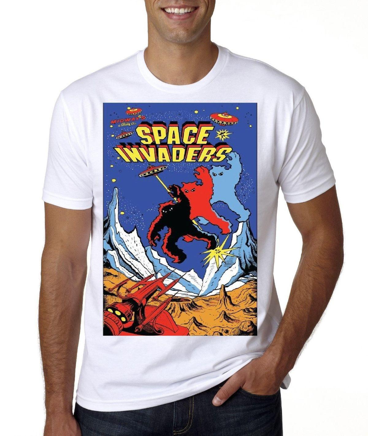 Retro Gamer Space Invaders T Shirt Kids To Adult Sizes Designer