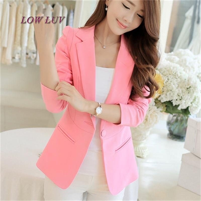 7e1df424e Venta caliente de moda elegante de negocios formal trajes de oficina usar  mujeres manga larga rosa / negro / blanco chaqueta de traje chaqueta XXL ...