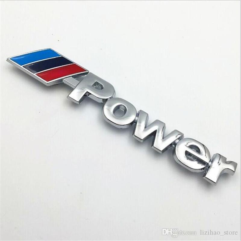 Automobiles Exterior Accessories 3D Silver Metal Front Grill Badge Metal Motorsport Logo Germany Style F10 M5 M6 Car Badges